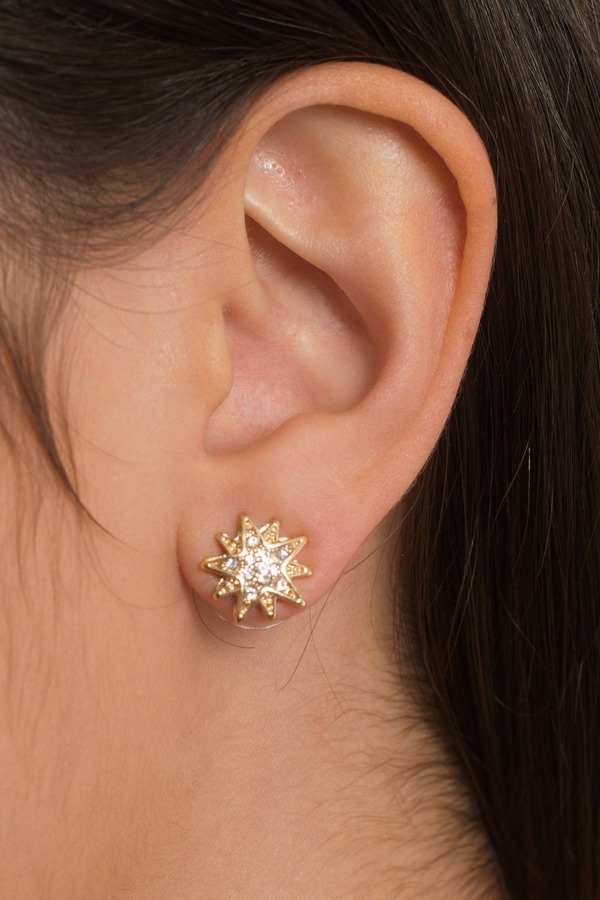 Starburst Gold Rhinestone Earring Set - $14 | Tobi US