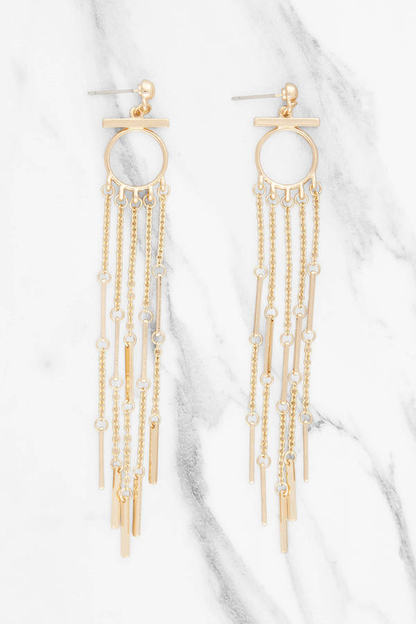 Gold Swing From The Chandelier Dangle Earrings Tobi