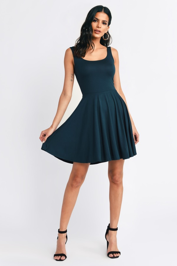79c37bace116 ... Tobi Graduation Dresses, Green, All For You Skater Dress, Tobi