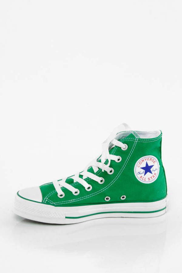 cb66f9c686d622 Green Converse Sneakers - Bright Converse Shoes - Green Hi Tops ...