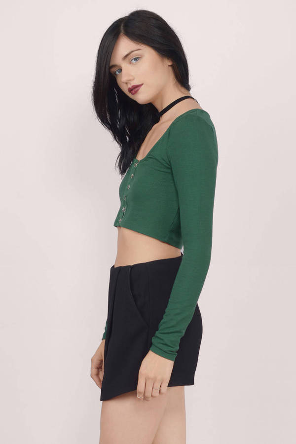 Green high neck ribbed crop jumper Green high neck ribbed crop jumper $ Product no: Size guide Only a few left in stock White ribbed high neck crop top +1; Quick view. Add to wishlist. $ Grey hacci boat neck long sleeve top. Quick view. Add to wishlist. $ Black ribbed high neck crop top .