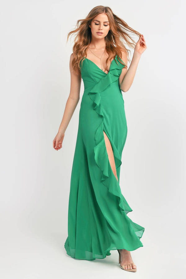 0cb50d6366411 ... Tobi Maxi Dresses, Green, Letting Loose For Tonight Maxi Dress, Tobi