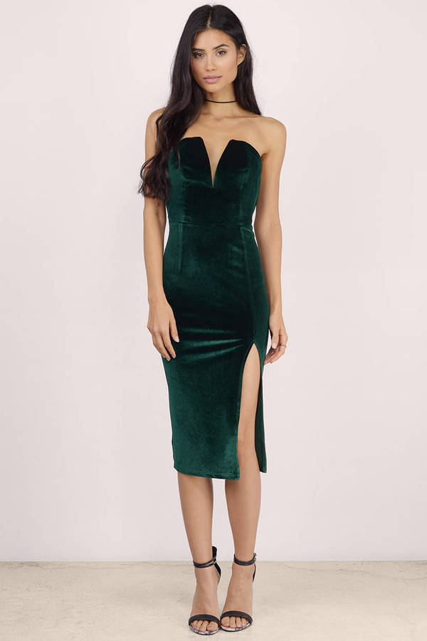 f36341020b6e Sexy Green Bodycon Dress - Strapless Dress - Bodycon Dress -  17 ...