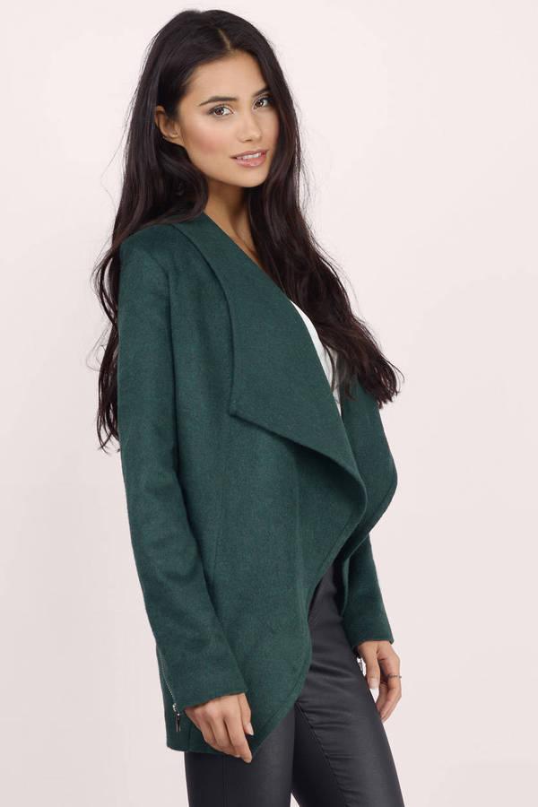 Cheap Green Jacket - Green Jacket - Draped Jacket - $30.00