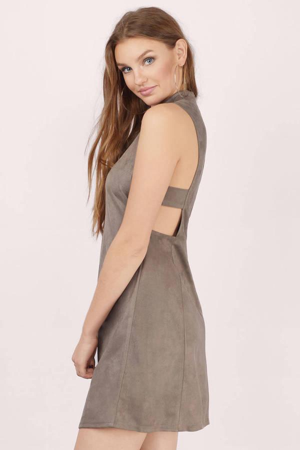 9fba64be80f Cute Grey Shift Dress - Cut Out Dress - Grey Dress - Shift Dress ...
