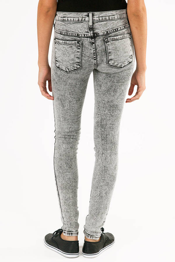 Flying Monkey Acid Wash Skinny Jeans