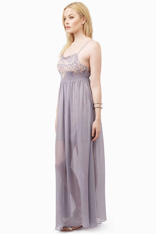 6ced1da885 Lavender Dress - Grey Dress - Lavender Tank Dress - Maxi Dress -  16 ...