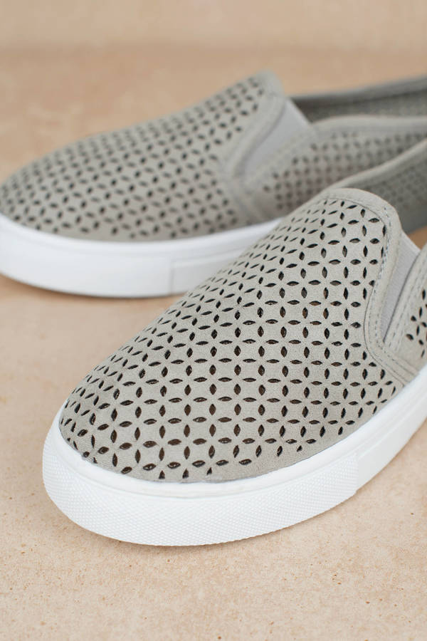 Sneakers Shoes Mia Au Grey Slip Eyelet On A0BgqPw