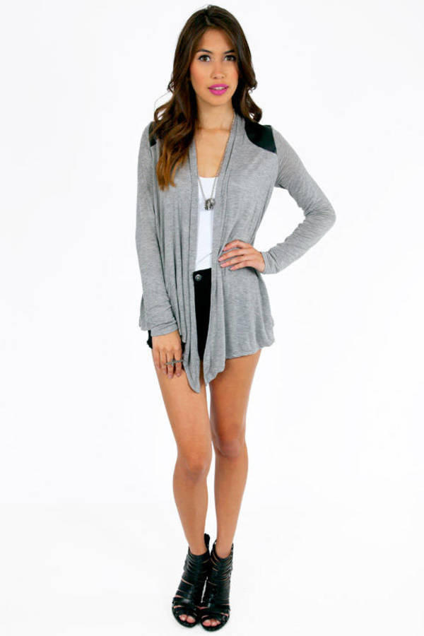On My Shoulders Contrast Cardigan
