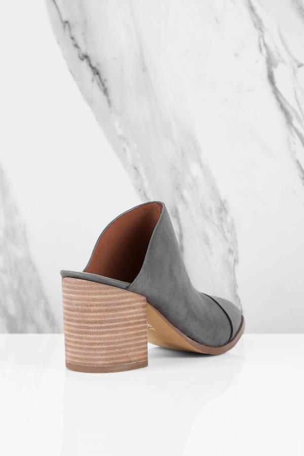 Designer Grey Footwear Heels Casual Report Mules 2YH9EDWI