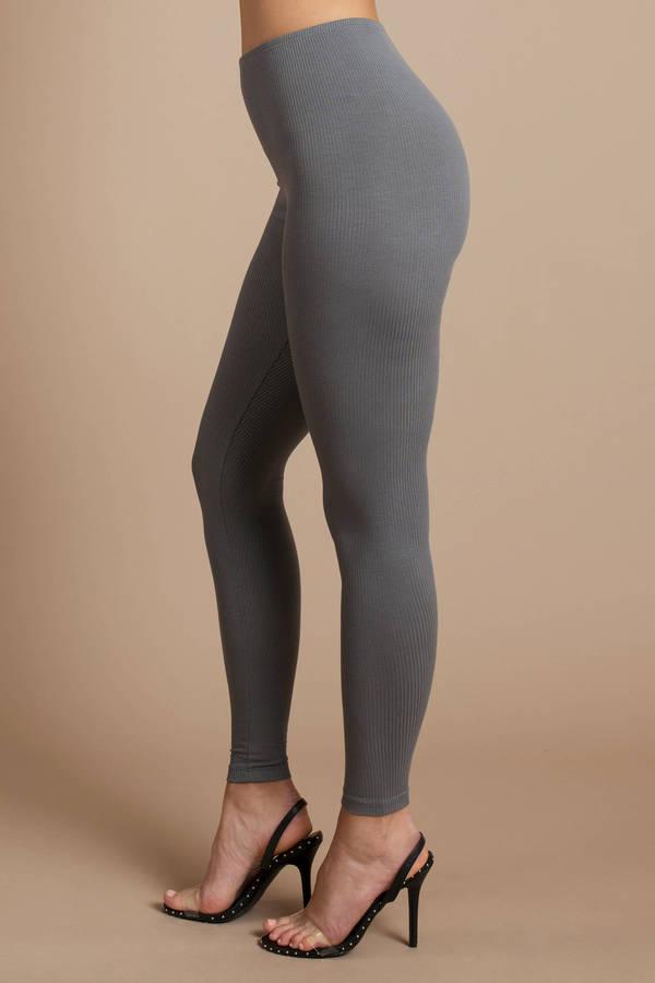 grey leggings ribbed leggings grey high waisted leggings 21