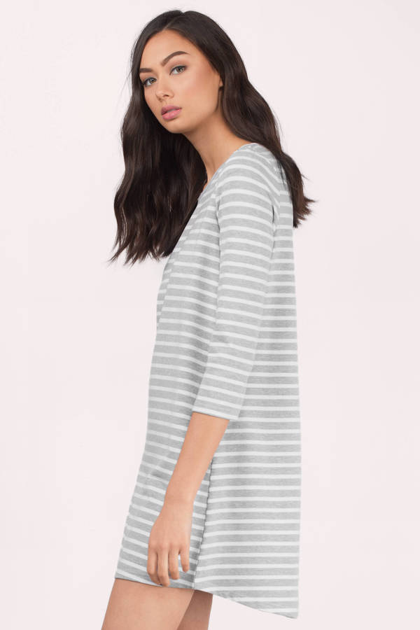 Cute Black & White Day Dress - Black Dress - Striped Dress - $21.00