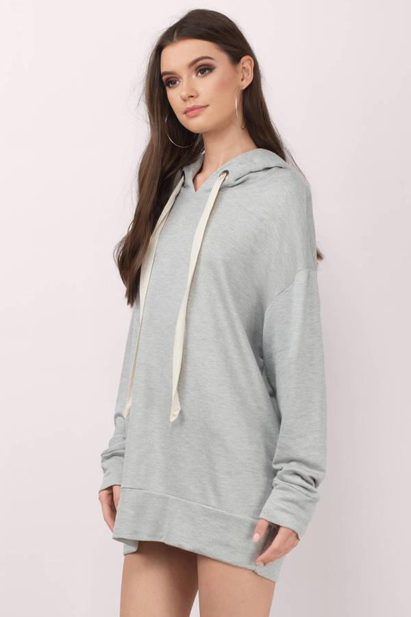 Trendy Heather Grey Day Dress - Oversized Sweater Dress - $66 ...