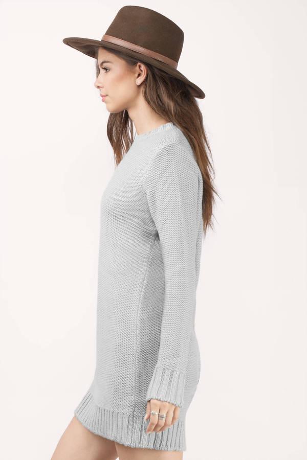 a14d72e1561 Cheap Heather Grey Day Dress - Button Back Dress - Day Dress - kr ...