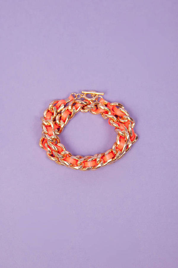 Ribbon Chain Wrap Bracelet