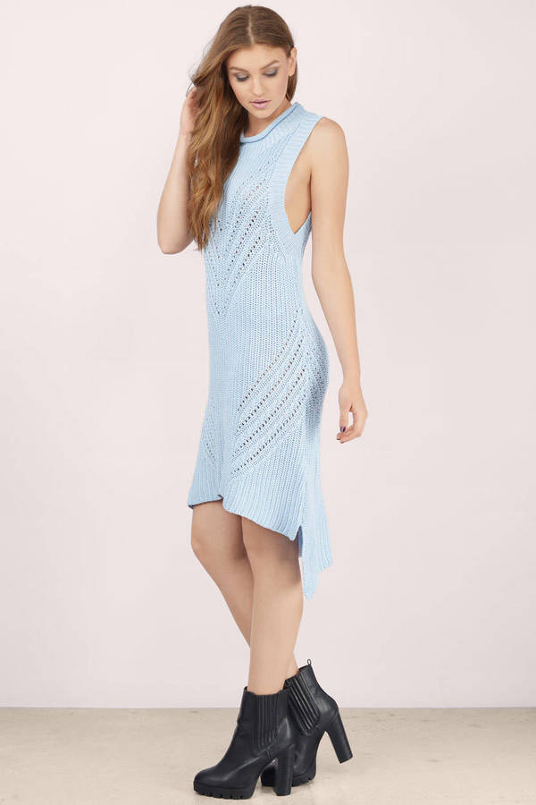 Ice blue cocktail dresses