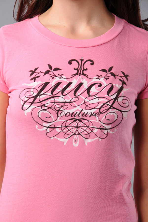 58402402dde5 Pink Juicy Couture Tee - Graphic T Shirt - Pink Juicy T Shirt -  47 ...