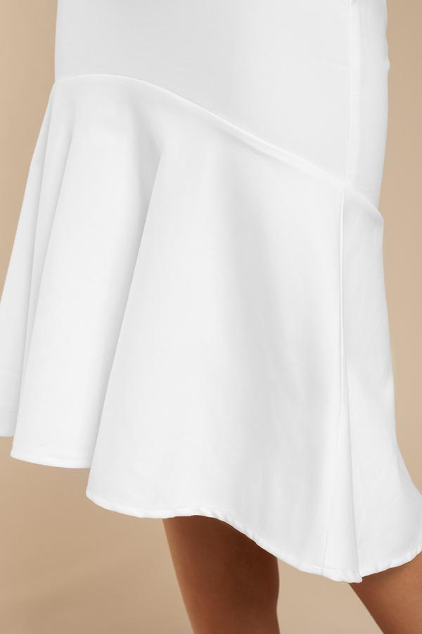 Sexy Ivory Skirt - White Skirt - High Waisted Skirt - $54.00