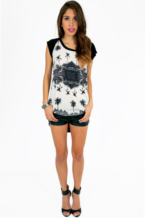 Palm Trees Graphic Top