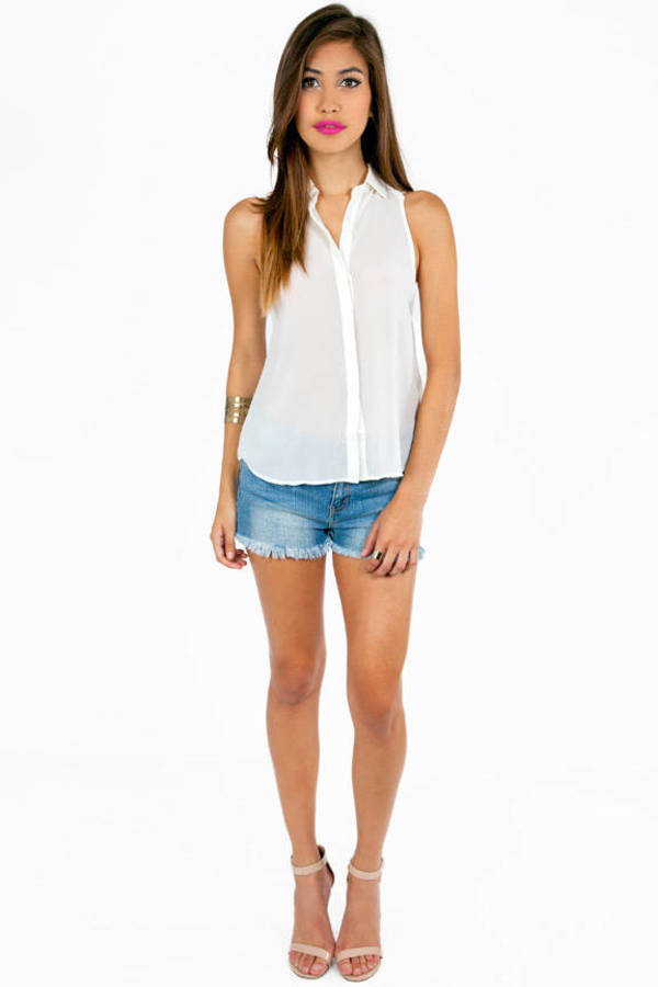 Button Me Down Tank Top