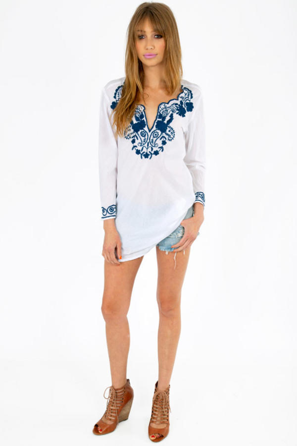 Emmy Embroidered Blouse