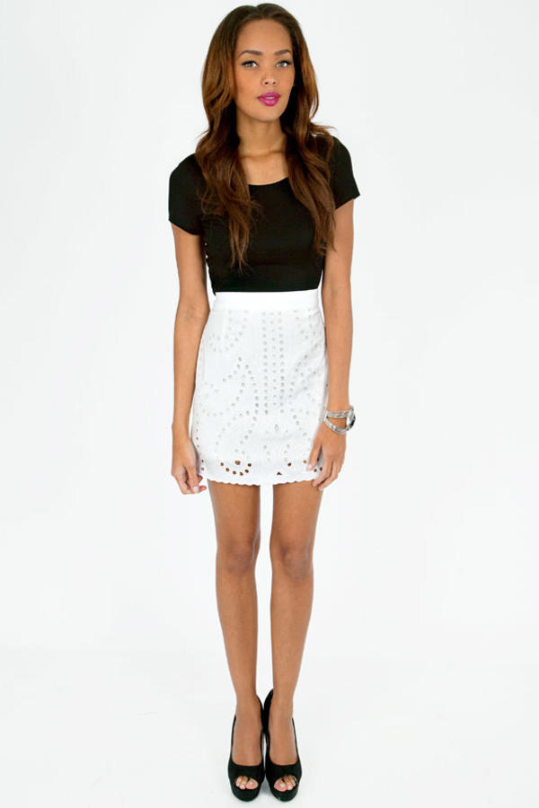 Eyelet It Flow Skirt