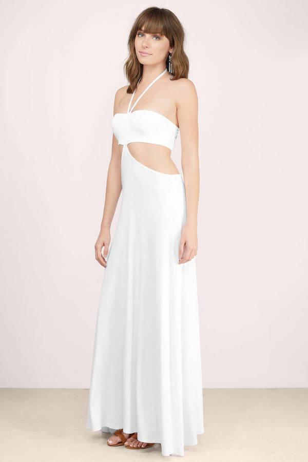 Sexy Ivory Maxi Dress - Cut Out Dress - Ivory Dress - Maxi Dress - $11