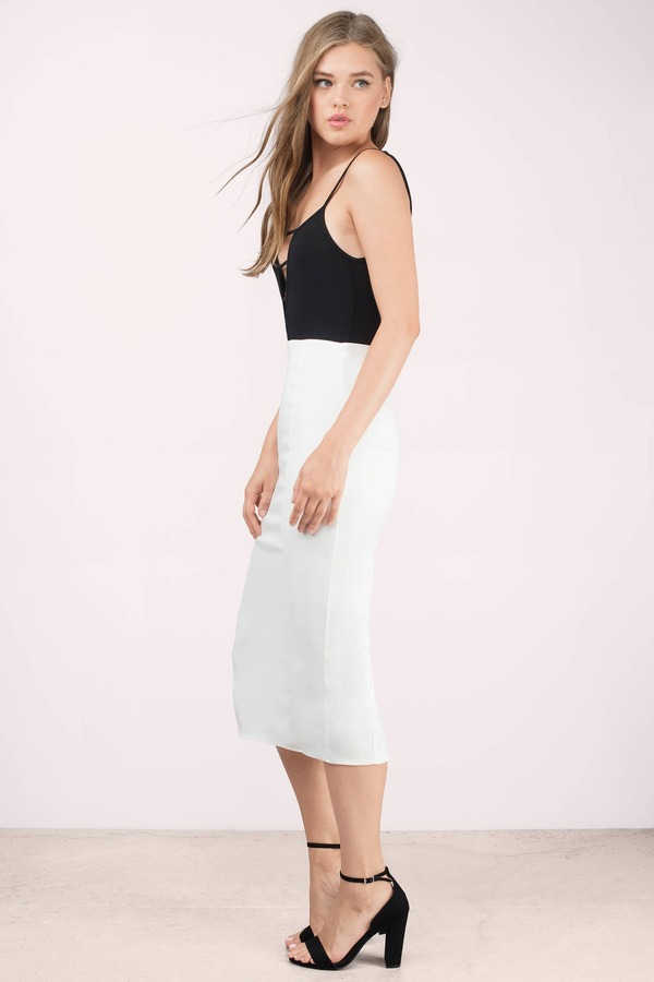 Sexy Ivory Skirt - White Skirt - High Waisted Skirt - Ivory Skirt ...