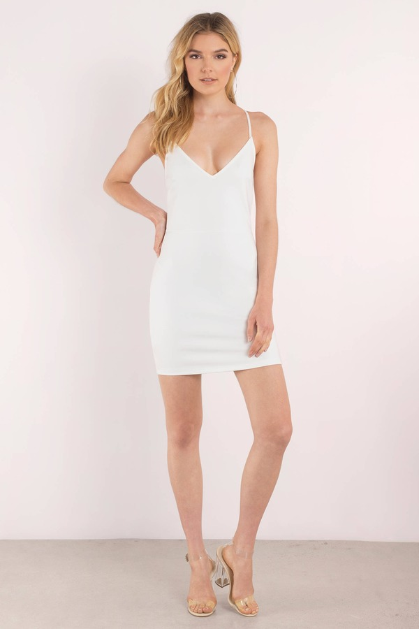 I M Falling Ivory Bodycon Dress