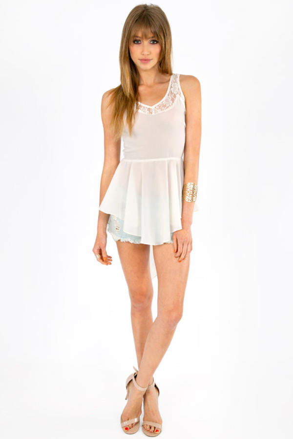Imagine Lace Trim Tank