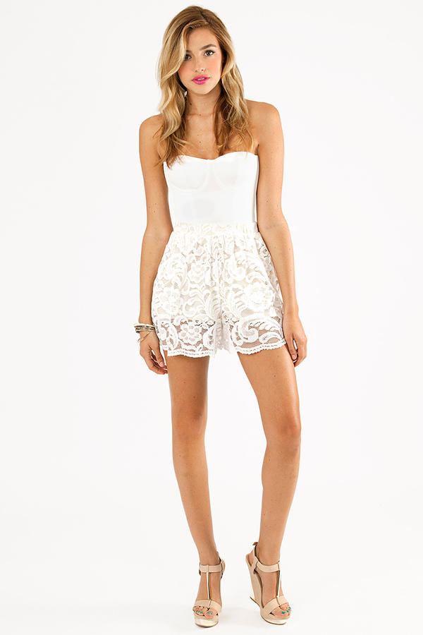 Lacey Overlay Shorts