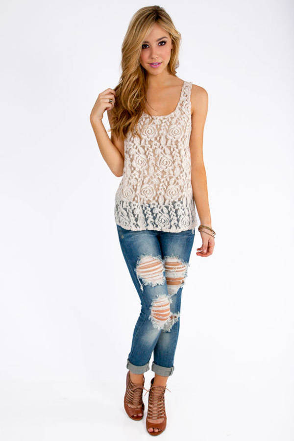 Ladies in Lace Tank Top