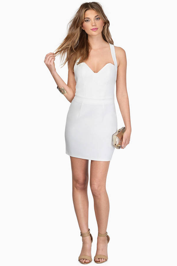 Little Vamp Ivory Bodycon Dress