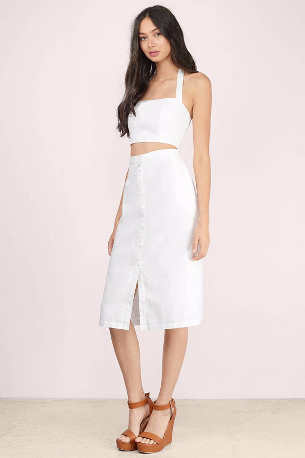 0fd860f292f94 Cute Ivory Crop Top - White Top - Smocked Top - Ivory Crop Top -  11 ...