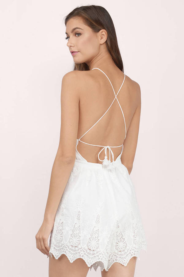 The Jetset Diaries Mariposa Ivory Halter Romper