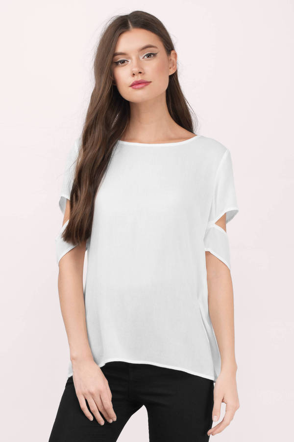 Shoulderless Blouse