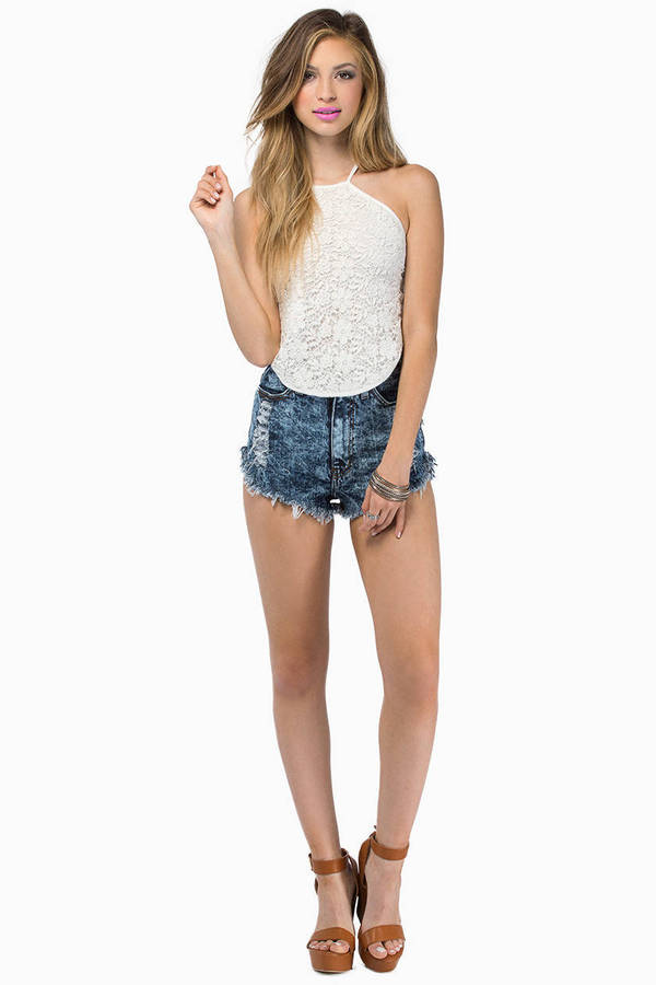 somedays lovin The Silence Lace Halter Top