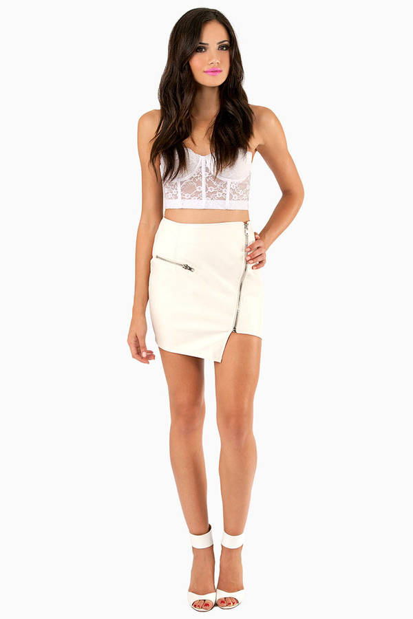 Zipped Hannah Mini Skirt