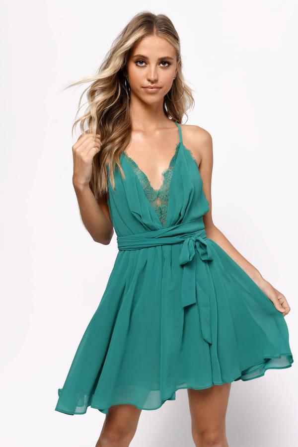 2e54b81b4c Green Dresses | Dark Green Dresses, Emerald Green Prom Dress | Tobi