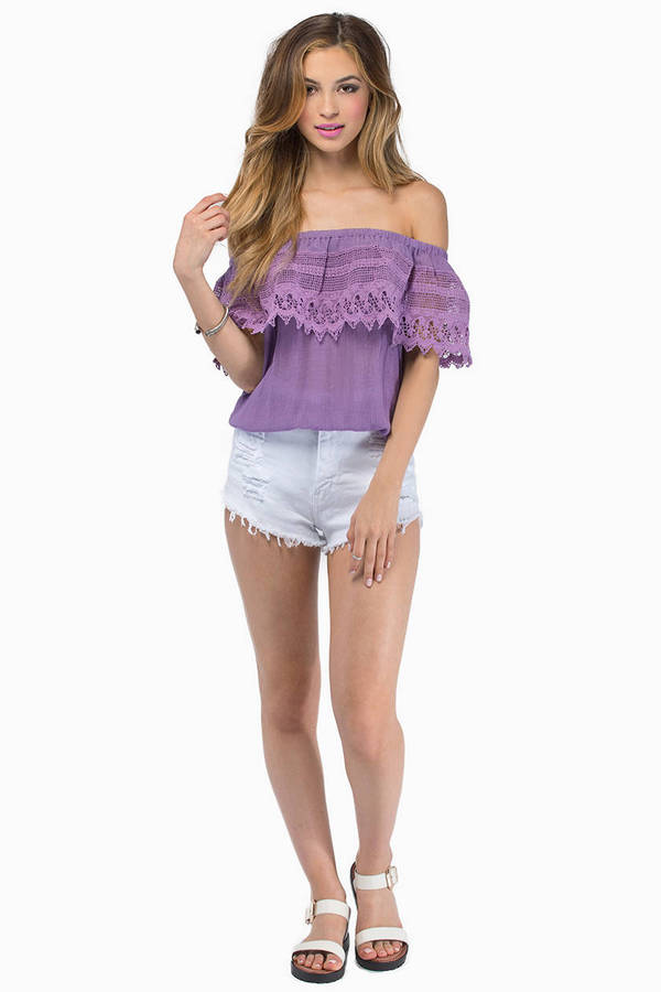 Carrie Crochet Top