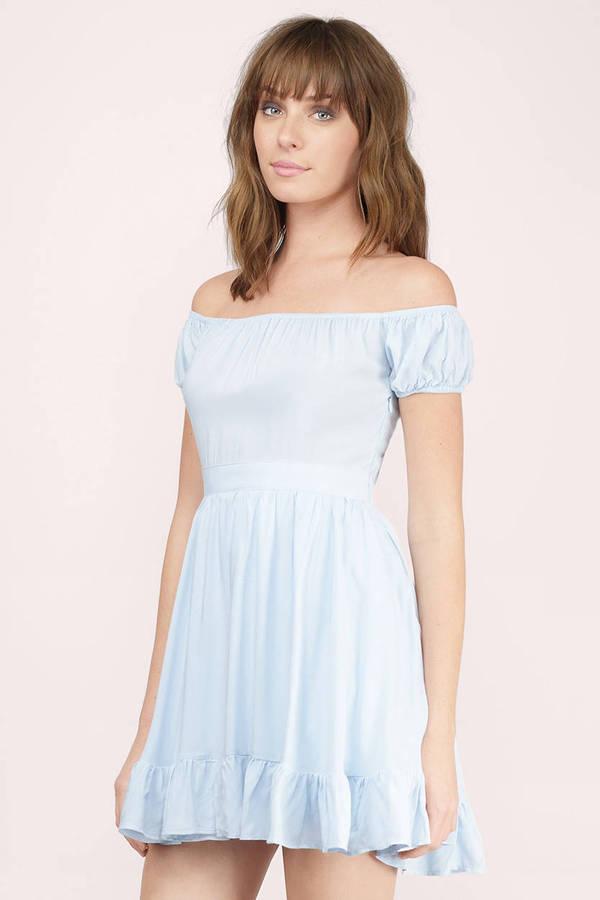 ce83bf24b229 Camillia Light Blue Skater Dress Camillia Light Blue Skater Dress ...