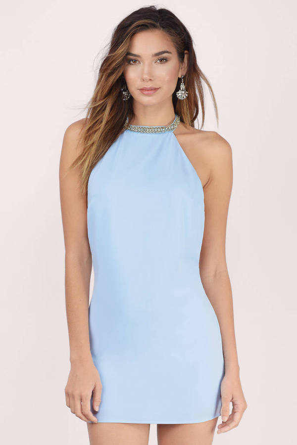 Light blue turquoise dress