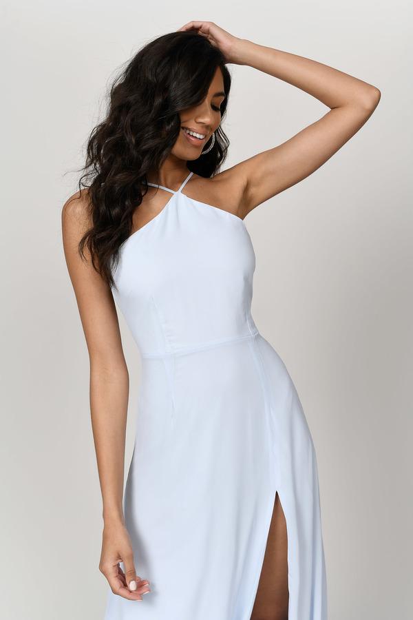 fae7168e8d ... Tobi Light Blue Dresses, Light Blue, Rise Above Lace Up Back Maxi Dress,  Tobi