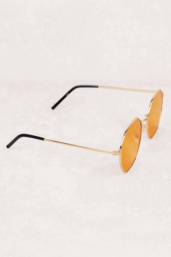 09f32026ec95 Larissa Octagon Shaped Light Brown Sunglasses Larissa Octagon Shaped Light  Brown Sunglasses ...