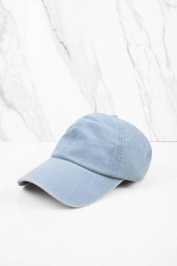in the past light denim baseball cap hats american apparel custom caps