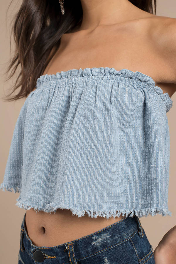 716541b72d3 Analeigh Light Wash Chambray Top Analeigh Light Wash Chambray Top ...