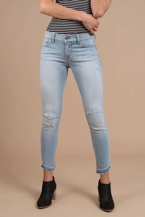5c53edee02353 Blue Pistola Pants - Knee Ripped Jeans - Blue Skinny Jeans - $98 ...