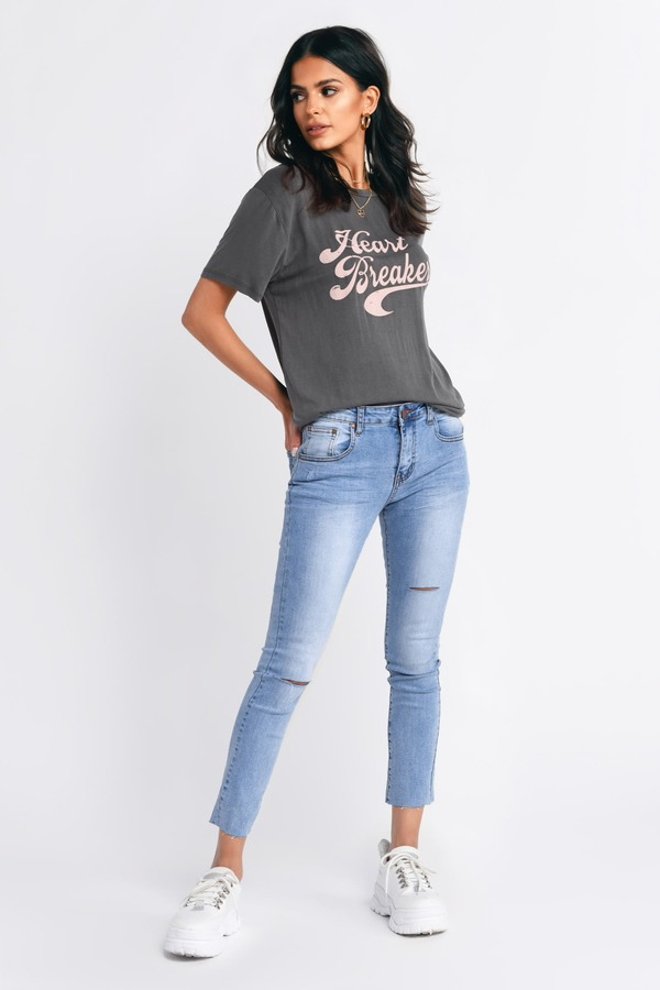 6d592669d8 ... Tobi Pants, Light Wash, Jefferson Mid Rise Distressed Skinny Jeans, Tobi
