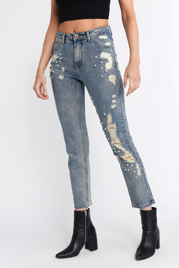lace up in purchase genuine quality and quantity assured Ripped Jeans For Women   Ripped Skinny Jeans, Rip Jeans   Tobi