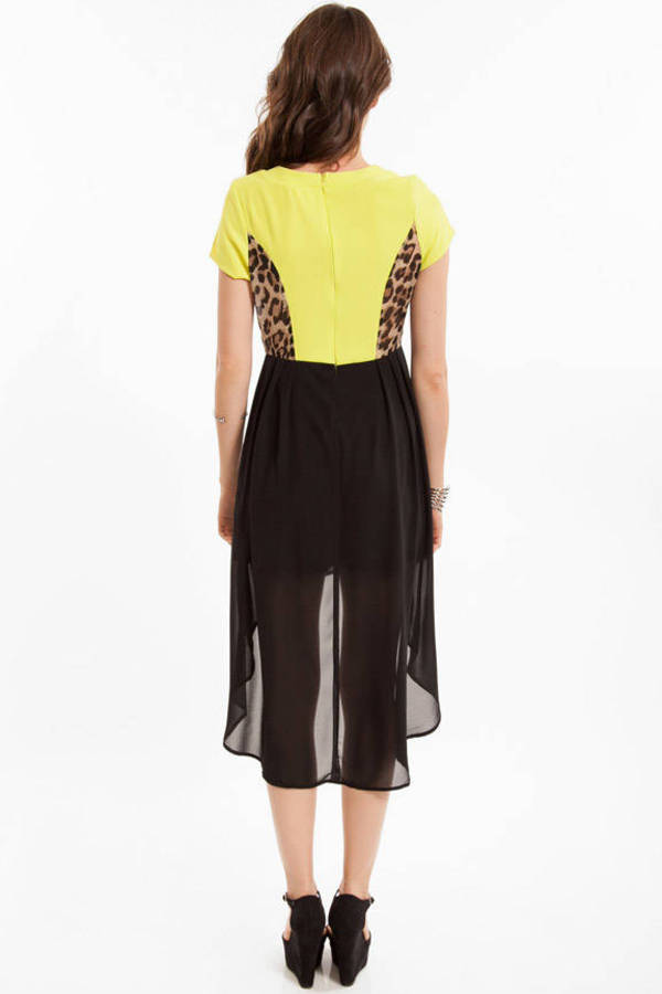 Janna Limeade Hi-Low Dress